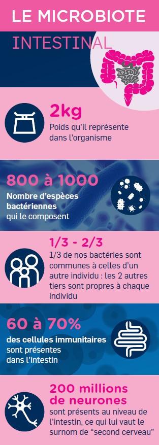 Microbiote intestinal en chiffres