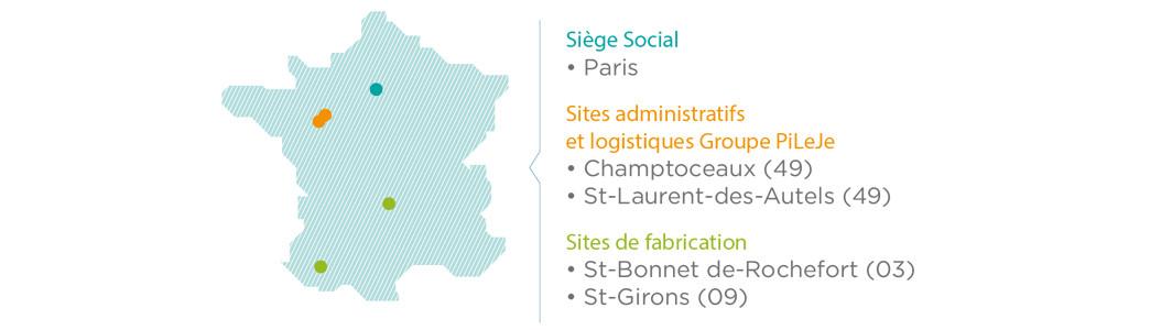 Implantation géographique PiLeJe France