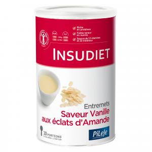 Entremets saveur vanille éclats d'amande